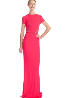 Elie Saab Berry Jersey Long Dress - Lyst