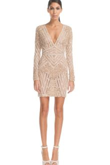 Elie Saab Vanilla Fully Embroidered Mini Dress - Lyst
