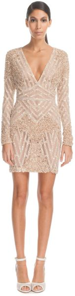 Elie Saab Vanilla Fully Embroidered Mini Dress in White (vanilla) - Lyst