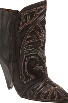 Isabel Marant Embroidered Ankle Boots - Lyst