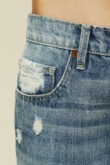 Free People La Plata Patchwork Jean in Blue (blue patchwork) - Lyst