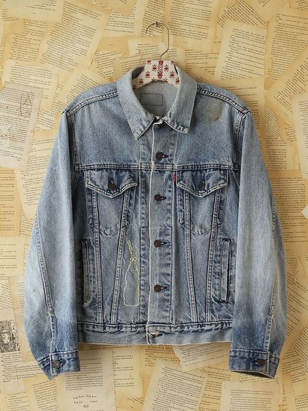 Free People Vintage Levis Denim Jacket in Blue (denim)