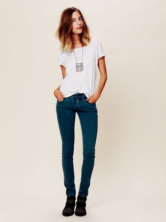 Free People Colored Skinny Jean - Lyst