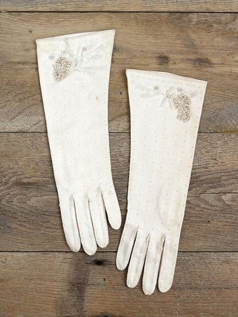 Free People Vintage Beaded Gloves - Lyst