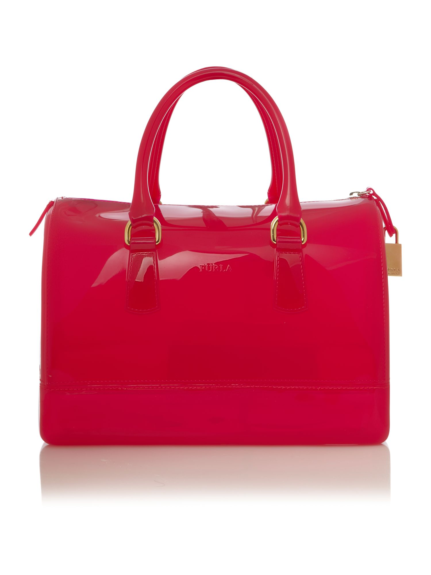 Furla Candy Glitter Bowling Bag In Pink Lyst