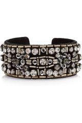 Isabel Marant Sunny Girl Crystal and Beadembellished Suede Cuff - Lyst