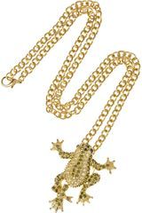 Kenneth Jay Lane 18karat Goldplated Cubic Zirconia Frog Necklace - Lyst