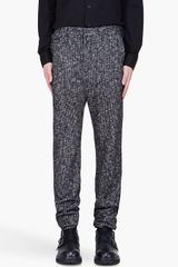 Kris Van Assche Black Houndstooth Chino Trousers