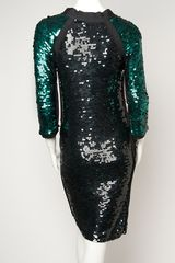 Lanvin Sequin Tshirt Dress in Green - Lyst