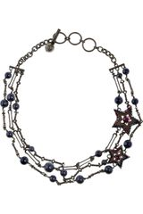 Lanvin Swarovski Crystal and Pearl Star Necklace - Lyst