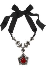 Lanvin Crystal Pendant Necklace - Lyst