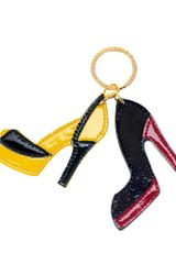 Lulu Guinness Shoes Key Ring - Lyst