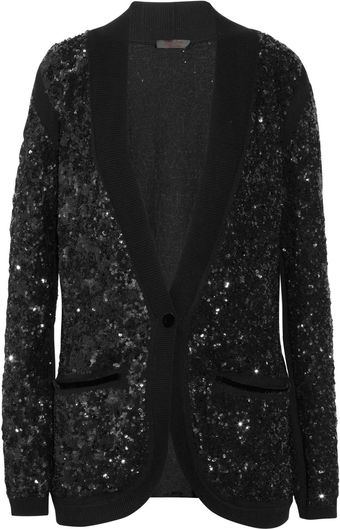 L'Wren Scott Sequined Cashmere Cardigan - Lyst