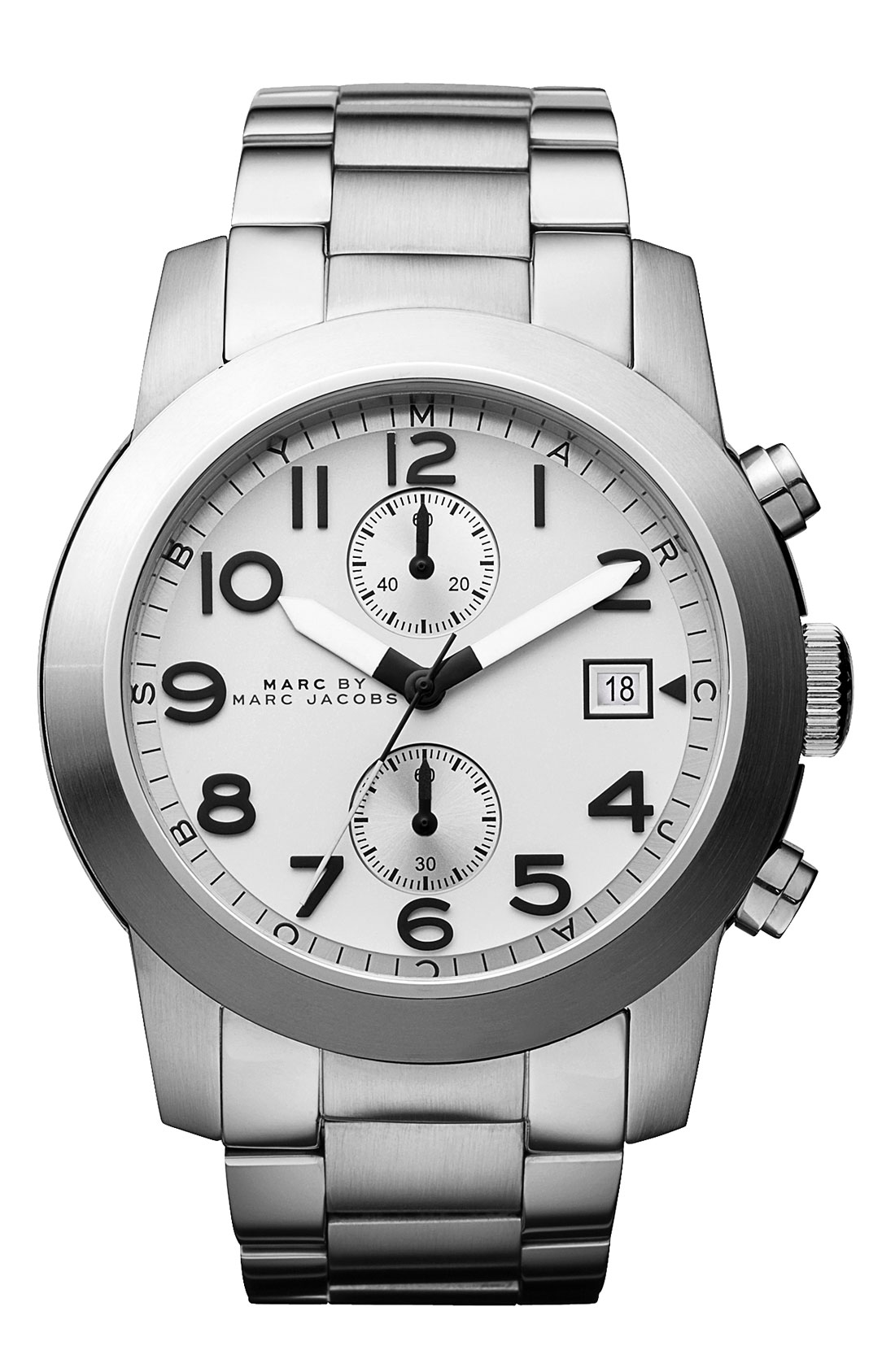 marc by marc jacobs larry chronograph bracelet watch in metallic gallery