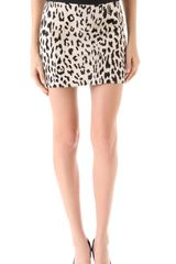 Milly Snow Leopard Mini Skirt - Lyst