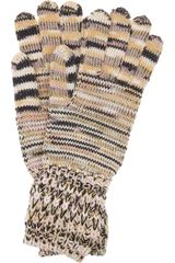 Missoni Knitted Wool Gloves - Lyst