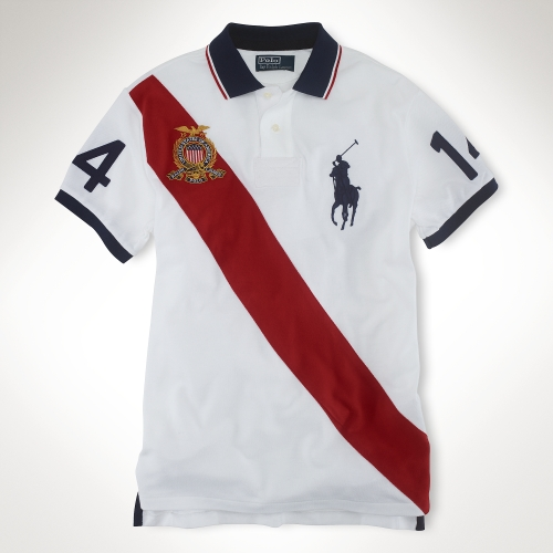 Ralph Lauren White American Big Pony Polo