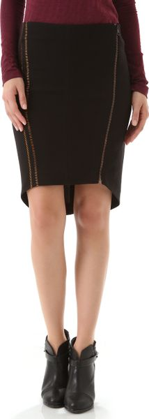 Rag & Bone Raj Embroidered Skirt in Black - Lyst