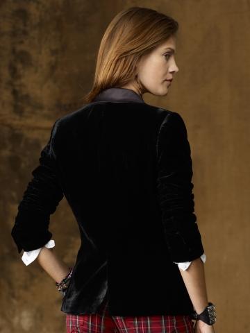 Lyst Ralph Lauren Velvet Tuxedo Jacket In Black