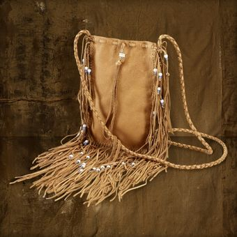 Ralph Lauren Leather Fringe Messenger Bag - Lyst