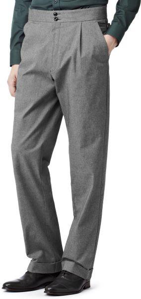 Reiss Side Adjuster Trousers In Gray For Men Dark Grey