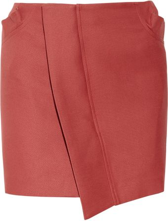 See By Chloé Cottontwill Wrapeffect Mini Skirt - Lyst