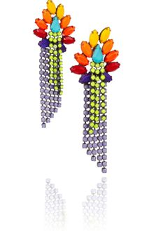 Tom Binns Riri Painted Swarovski Crystal Earrings - Lyst