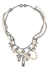 Tom Binns Regal Rocker Swarovski Crystal and Glass Pearl Necklace - Lyst