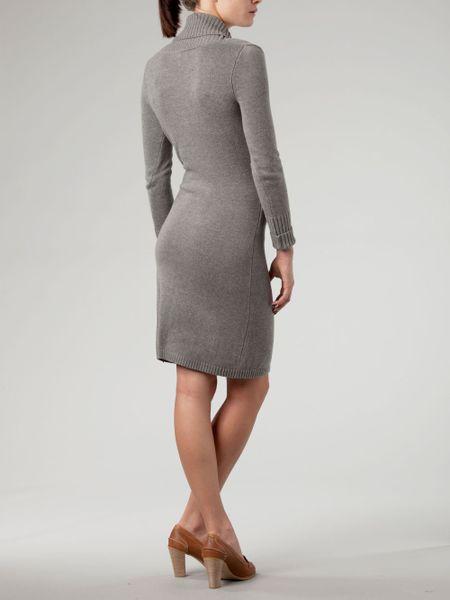 Tommy Hilfiger Harlem Wrap Long Sleeve Dress In Gray