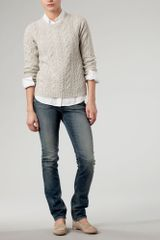 Tommy Hilfiger Odette Cable Crew Neck Sweater - Lyst