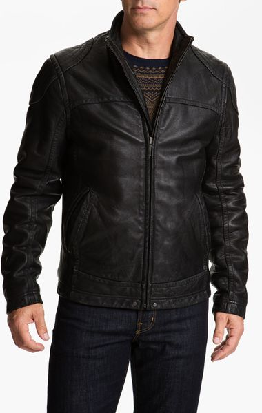 Ugg Garrapata Leather Jacket in Black for Men - Lyst