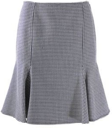 Versace Versace Skirt in Blue (navy/wht) - Lyst