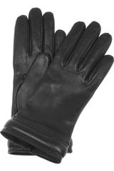 Saint Laurent Leather Gloves - Lyst