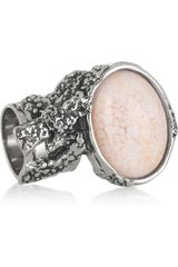 Yves Saint Laurent Arty Silverplated Glass Ring - Lyst