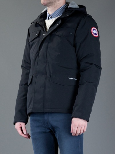 Canada goose Windbreaker Jacket in Black for Men | Lyst