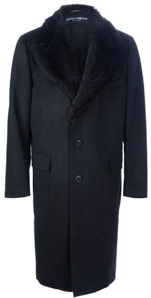 Dolce & Gabbana Single Breasted Coat - Lyst