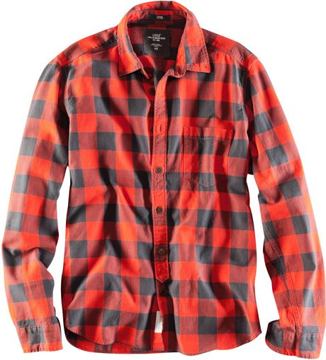 H Amp M Flannel Shirt In Orange For Men Lyst
