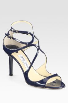 Jimmy Choo Ivette Patent Leather Sandals - Lyst