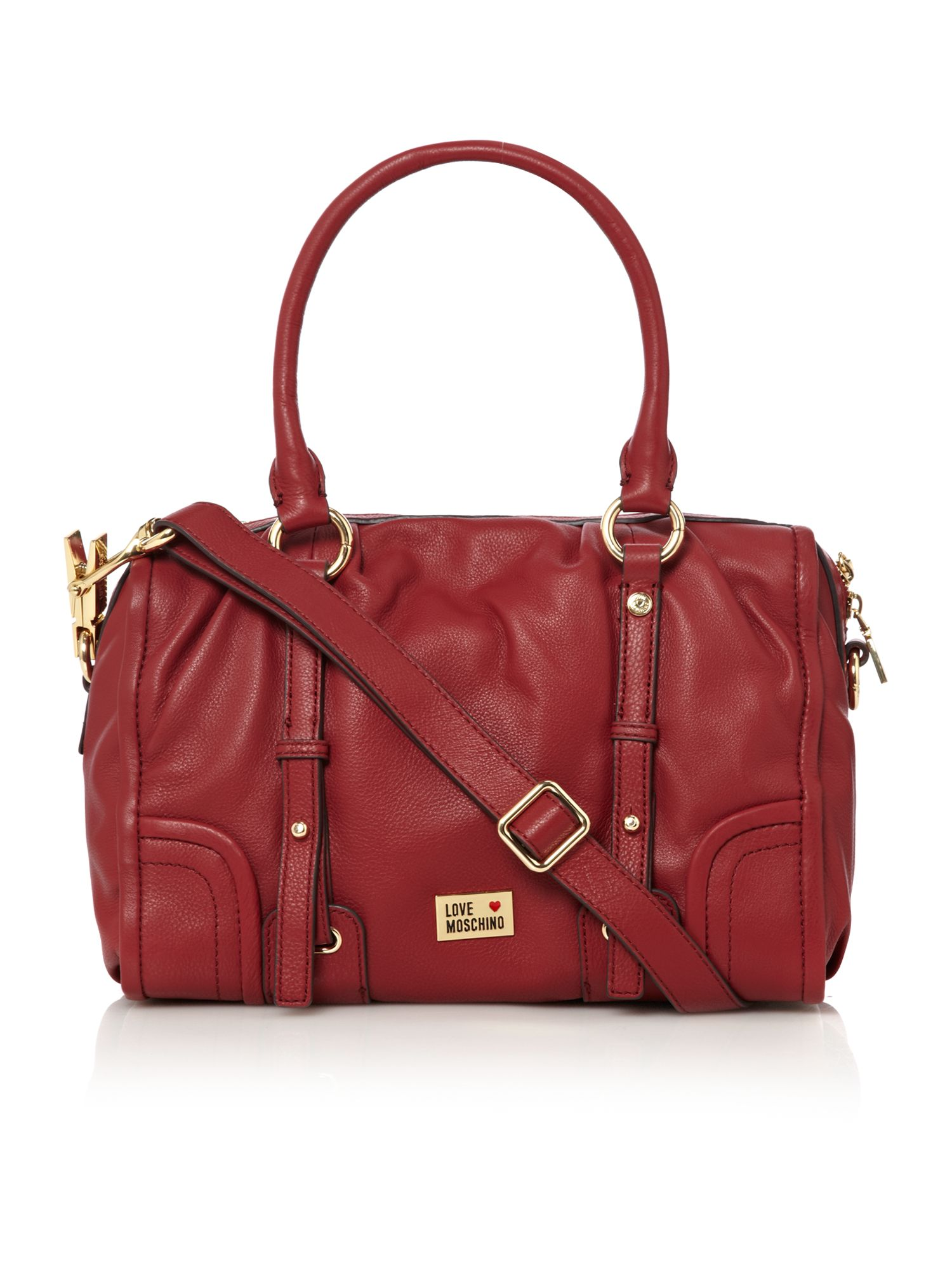 love moschino classic bowling bag in red lyst. Black Bedroom Furniture Sets. Home Design Ideas