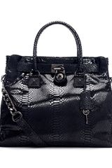 Michael by Michael Kors Large Hamilton Python Embossed Tote Bag - Lyst