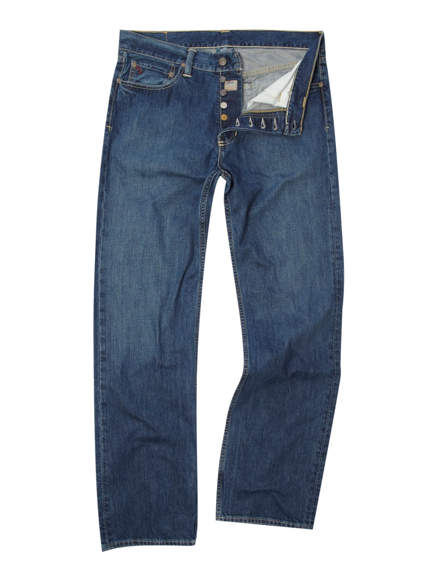 polo ralph lauren stanton straight fitted jeans in blue for men lyst. Black Bedroom Furniture Sets. Home Design Ideas