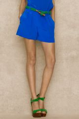 Ralph Lauren Blue Label Crepe De Chine Short - Lyst