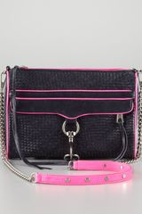 Rebecca Minkoff Mac Woven Clutch Crossbody Bag - Lyst