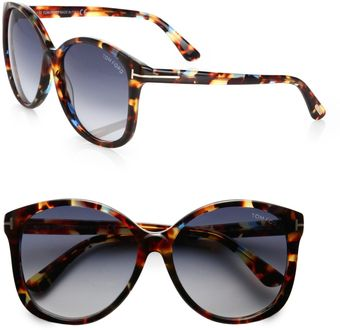 Tom Ford Alicia Round Acetate Sunglasses - Lyst