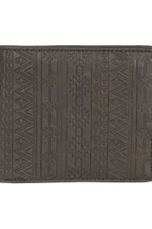 Topman Black Patterned Emboss Wallet - Lyst
