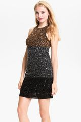 French Connection Spiegal Sequin Colorblock Dress - Lyst