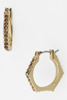 Marc By Marc Jacobs Bolts Slice Pavé Geometric Hoop Earrings - Lyst