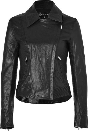 Theyskens' Theory Black Leather Javda Jacket - Lyst
