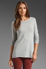 Autumn Cashmere Featherweight Roll Neck Crew - Lyst