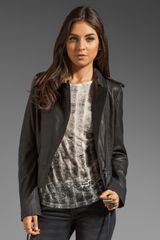 Diesel Premise Leather Jacket - Lyst